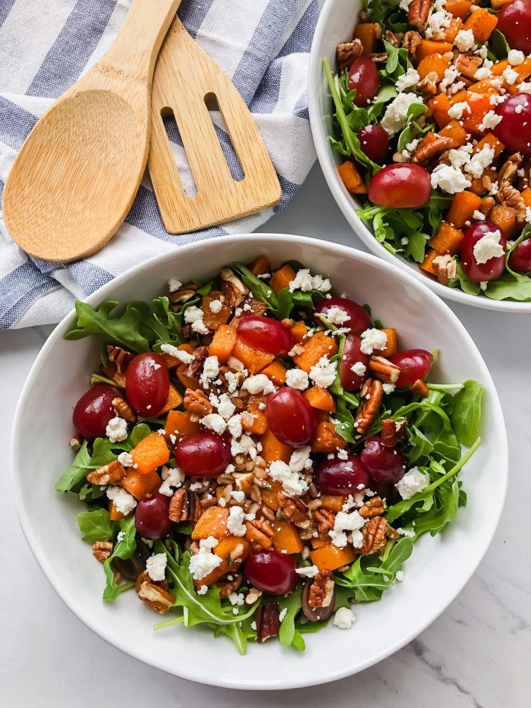 Butternut Squash and Farro Salad in a bowl
