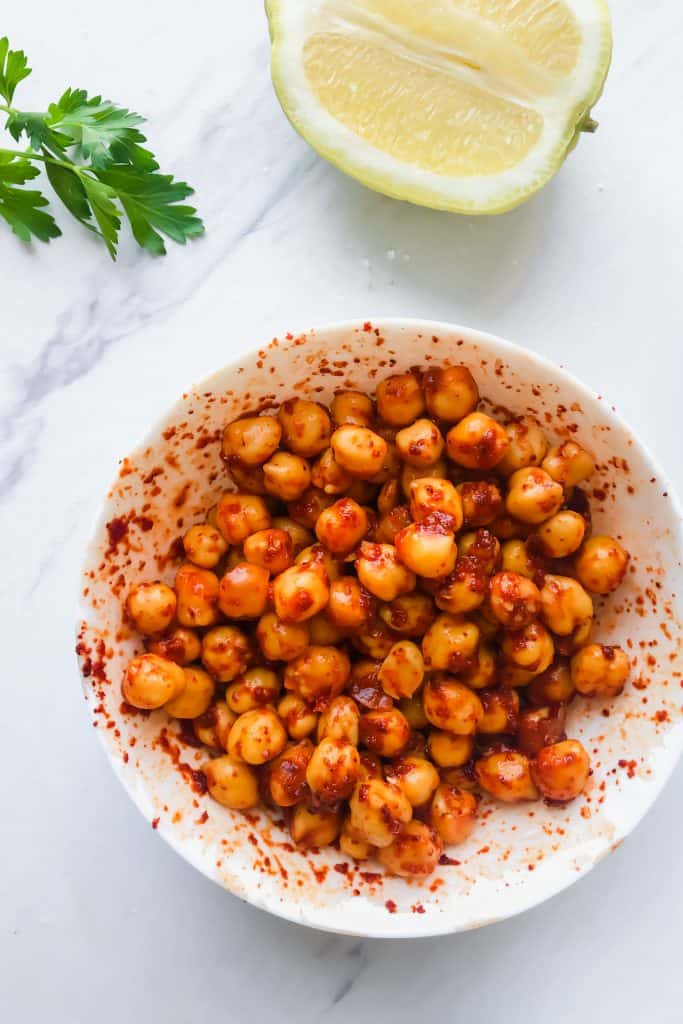 chickpeas with paprika and lemon