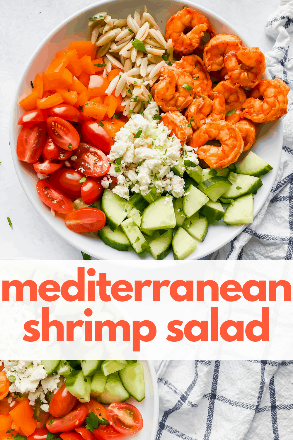Mediterranean Shrimp Salad with text overlay