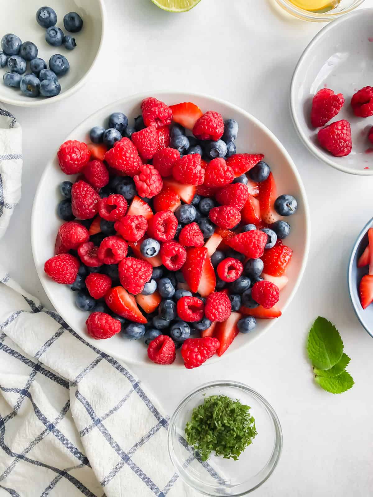 summer berry salad in a bowl