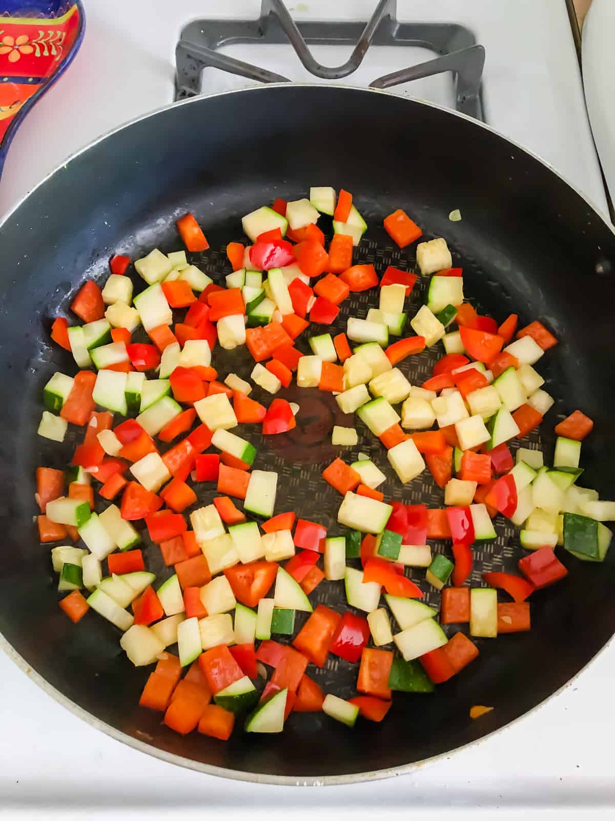veggies in a skillet